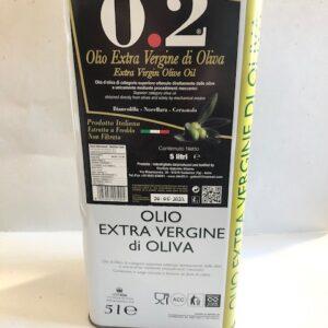 Olio In Latta Extra Vergine di Oliva LT 5 Contenuto Netto prodotti tipici trapanesi e siciliani da Diego iltipico.net