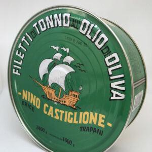 Filetti di Tonno in Olio d'Oliva Formato Maxi 2.400kg prodotti tipici trapanesi e siciliani da Diego iltipico.net