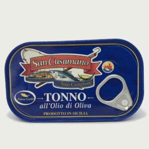 Tonno San Cusumano in Olio d'Oliva - Vari Formati prodotti tipici trapanesi e siciliani da Diego iltipico.net